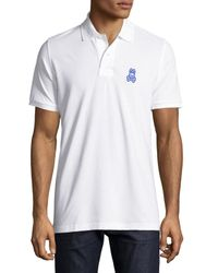 Psycho Bunny   White Tall Bunny Pima Polo Shirt for Men   Lyst