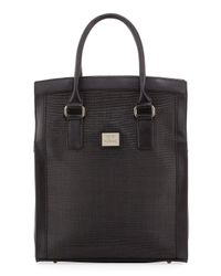 Gianfranco Ferré - Black Woven-center Shopper Tote Bag - Lyst