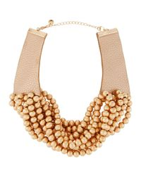 Lydell NYC | Metallic Multi-strand Beaded Torsade Choker Necklace | Lyst