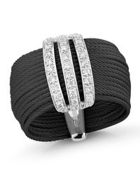 Alor | Black Multi-row Micro-cable Pave Diamond Band Ring | Lyst
