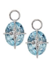 Jude Frances - Lacey Sky Blue Topaz Earring Charms - Lyst