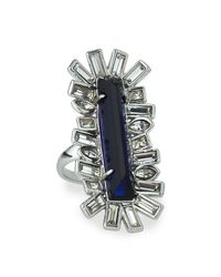 Alexis Bittar | Blue Miss Havisham Baguette Crystal Cocktail Ring | Lyst