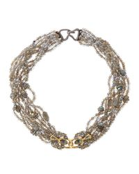 Alexis Bittar | Metallic Multi-strand Double-padlock Statement Bib Necklace | Lyst
