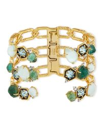Alexis Bittar | Metallic Mosaic Bypass Hinge Cuff Bracelet | Lyst