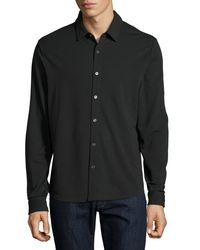 Michael Kors | Black Men's Slim Long Sleeve Shirt for Men | Lyst