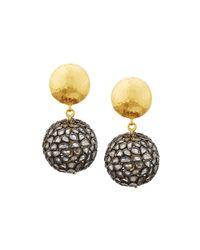 Gurhan | Metallic Celestial Pastiche Two-tone Diamond Slice Drop Earrings | Lyst