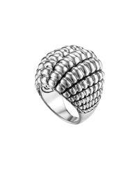 John Hardy - Metallic Bedeg Silver Large Dome Ring - Lyst