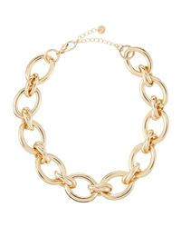 Lydell NYC   Metallic Golden Oversized Oval Link Necklace   Lyst