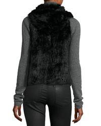 525 America - Natural Hooded Rabbit Fur Vest - Lyst