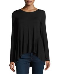 Neiman Marcus | Black High-low Long-sleeve Tee | Lyst