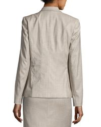 Lafayette 148 New York | Gray Kathy Two-button Jacket | Lyst