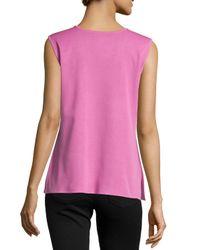Misook - Pink Scoop-neck Knit Tank - Lyst