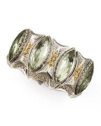 Konstantino | Metallic Astritis Faceted Green Amethyst Cuff Bracelet | Lyst