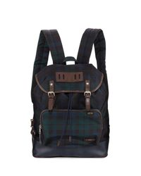 Fred Perry | Blue Plaid Canvas Rucksak Backpack | Lyst