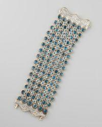 Konstantino | Thalassa Faceted London Blue Topaz Six Row Bracelet | Lyst