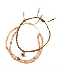 Tai - Multicolor Crystal Beaded Evil Eye Bracelets - Lyst