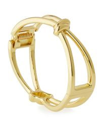 Lydell NYC - Metallic Golden Knot Hinged Bracelet - Lyst
