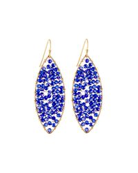 Panacea - Blue Beaded Marquise Drop Earrings - Lyst