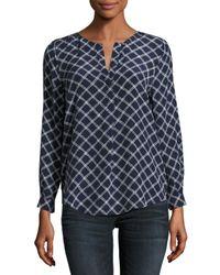 Joie | Blue Arrosa Printed Silk Top | Lyst