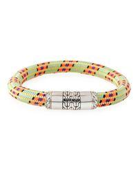 John Hardy - Green Men's Classic Chain Multicolor Cord Bracelet for Men - Lyst
