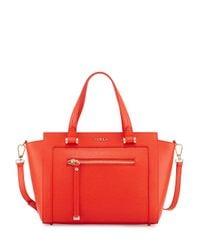 20cead9e64 Lyst - Furla Ginevra Leather Satchel Bag in Orange