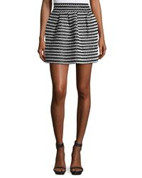 Elliatt   Black Sculpture Crisscross Mini Skirt   Lyst
