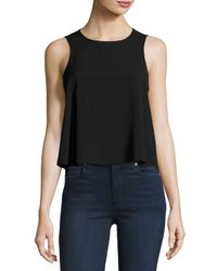 French Connection | Black Polly Plains Sleeveless Top | Lyst
