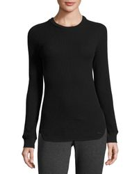 Marc New York | Gray Embellished-sleeve Thermal Top | Lyst