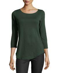 Lamade - Green Jonnie 3/4-sleeve Asymmetric Top - Lyst