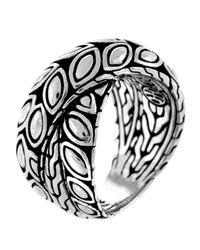 John Hardy | Metallic Padi Silver Twist Ring | Lyst