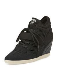 Ash | Black Bebop Mesh Wedge High-top Sneaker | Lyst