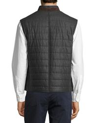 Luciano Barbera - Gray Wool Quilted Chanel Vest for Men - Lyst