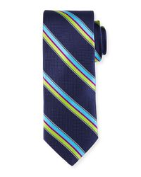 Ted Baker | Blue Sotheby Striped Printed Tie for Men | Lyst