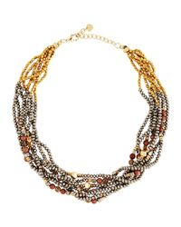 Nakamol | Multicolor Chunky Beaded Torsade Statement Necklace | Lyst