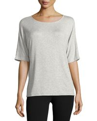 VINCE | Gray Luxe Ribbed Crewneck Tee | Lyst