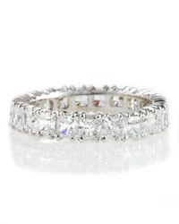 Fantasia by Deserio | Metallic Cubic Zirconia Eternity Band Ring | Lyst