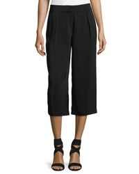 Laundry by Shelli Segal | Black High-waist Pleated Culotte Pants | Lyst