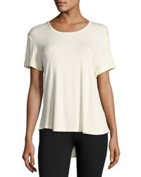 Balance Collection | Black Reina Cutout-back Jersey Tee | Lyst