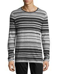 VINCE | Multicolor Jasper Long-sleeve Striped T-shirt for Men | Lyst