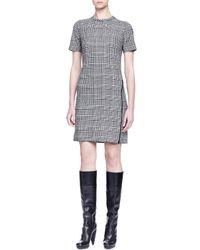 Lanvin   Gray Wrap-around-zip Glen Plaid Dress   Lyst