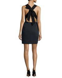 kate spade new york - Black Sleeveless Bow-back Dress - Lyst