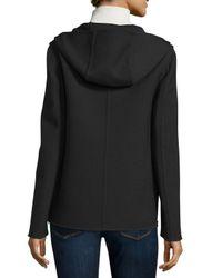Michael Kors - Black Zip-front Hooded Jacket - Lyst