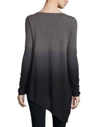 Neiman Marcus - Purple Ombre Cashmere Asymmetric Sweater - Lyst