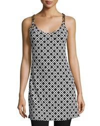 MICHAEL Michael Kors | Black Sleeveless Chain-link Tunic | Lyst