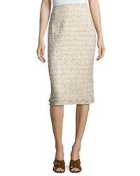 Lafayette 148 New York | Natural Priscilla Tweed Pencil Skirt | Lyst