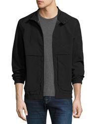 Marc New York - Black Caton Crinkle-shell Bomber Jacket for Men - Lyst