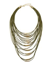 Fragments | Green Multi-strand Cord Statement Necklace | Lyst