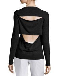Michael Kors   Black V-neck Slash-back Cashmere Sweater   Lyst