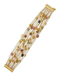 Marco Bicego - Metallic Siviglia 18k Mixed Sapphire 15-strand Bracelet - Lyst