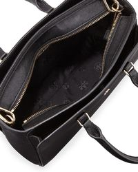 Tory Burch - Black Robinson Small Zip Tote - Lyst